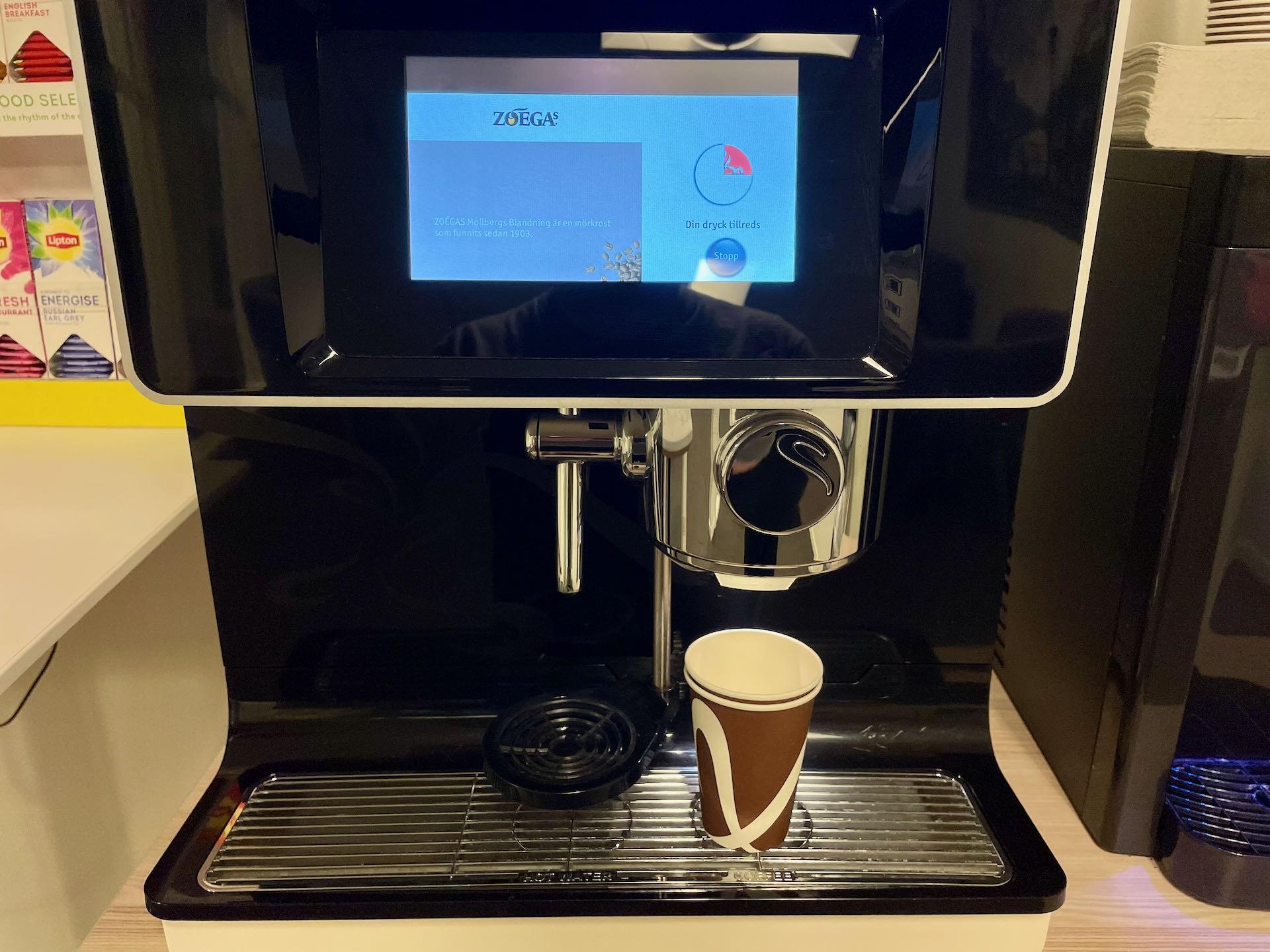 Kaffemaskin på jobbet