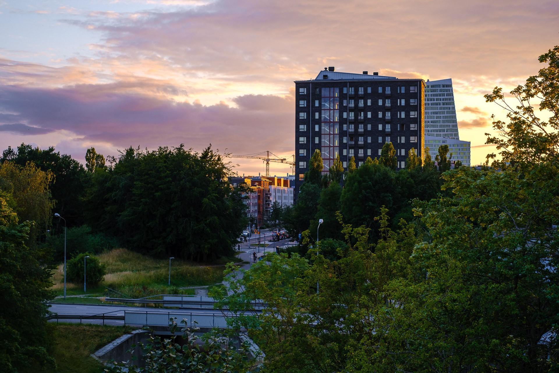 Solnedgång över Hyllie
